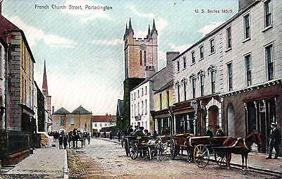 Portarlington. French Church Street in U.S. Series # 145/3. Horse & Cart.