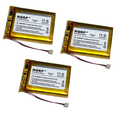 3-Pack HQRP 1000mAh Battery fits Palm Tungsten T T1 T2 T3 + Screwdriver