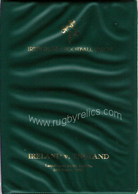 IRELAND v ENGLAND 1991 SPECIAL EDITION RUGBY PROGRAMME