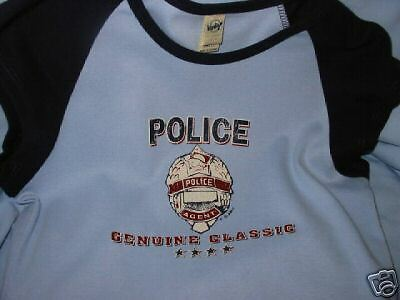 Ladies Genuine Classic  Police T-Shirt, Size LG