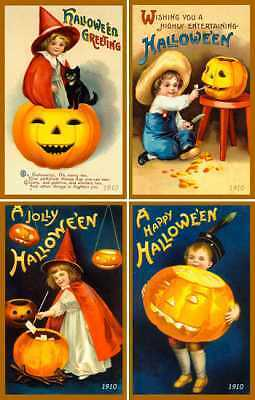 Olde American Antiques Quilt Blocks - Halloween Set 1 - FREE US SHIPPING
