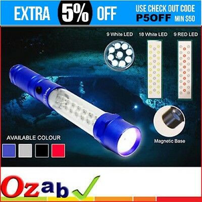35-LED Multi-Purpose Worklight Torch w Emergency Light Magnet Car Emergency