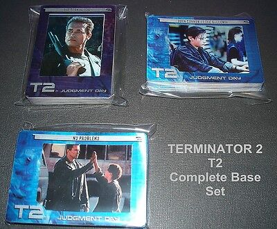 TERMINATOR 2  /  T2 Judgement Day   - TRADING CARDS    COMPLETE BASE SET