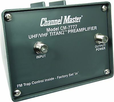 Channel Master CM-7777 TITAN 2 Antenna Preamplifier - UHF VHF FM CM 7777 Preamp