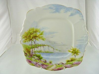 Cliffs Of Dover Cake Plate By Paragon England