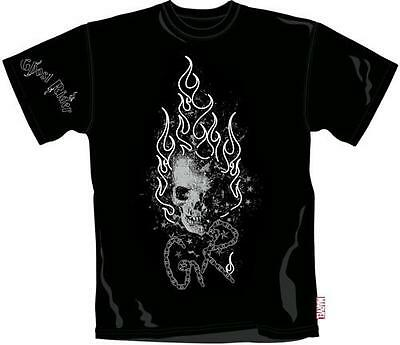 Ghost Rider - Flaming Skull Mens Cotton T-Shirt - New & Official Marvel Extreme