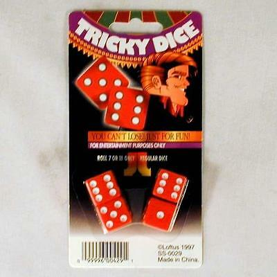 2 SETS OF MAGIC TRICK DICE casino ROLLING die 7-11 everytime loaded game NEW