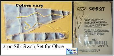 Oboe Silk Swab set of 2 Body & Neck Superslick Keep Oboe Clean and dry     *NEW*