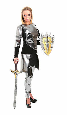 Warrior Snow Knight Armor Joan of Arc Mulan Costume 4/6 8/10 12/14 Adult Womens