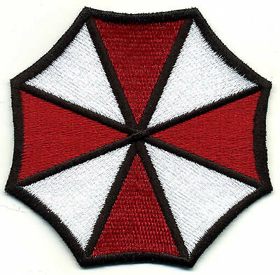 "Resident Evil Umbrella Corporation Fully Embroidered  3.75"" Iron-on Patch"