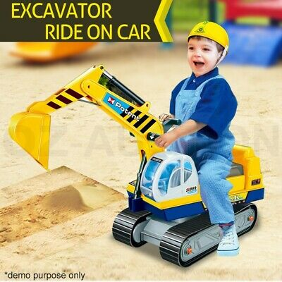 Ride On Car Kids Digger Pretend Play Excavator Power Construction Truck Toys