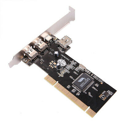 Firewire PCI Card 4 Port 1394 IEEE iLink DV Camcorder Cam Controller