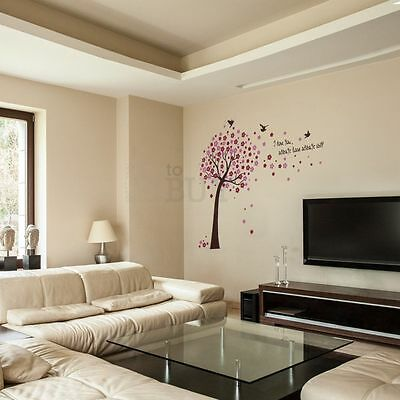 Cherry Blossom Flower Tree Home Room Art Mural Wall Sticker Decal Removable