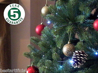 Best Artificial Premium 7ft Hinged Christmas Tree Indoor Realistic 100% PE Tips