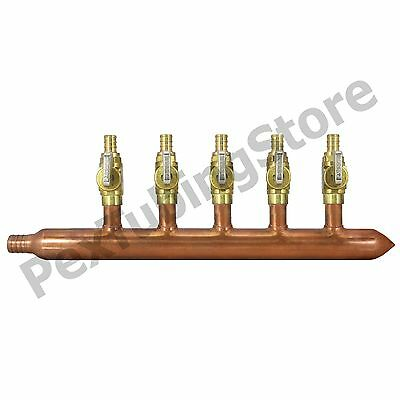 "5 Port 1/2"" PEX Manifold with Valves by Sioux Chief 672XV0590 CLOSED"
