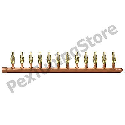"12 Port 1/2"" PEX Manifold w/ Valves by Sioux Chief 672XV1210 SWEAT (R)"