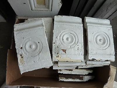 "lot of 30 victorian corner BASE molding PLINTH blocks 8"" h x 5"" w x 1 3/16"""