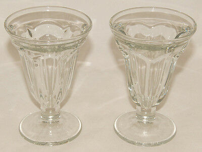Vintage - LIBBEY -  Tall Ice Cream Sundae / Sherbet - Footed Dish Bowls SET of 2