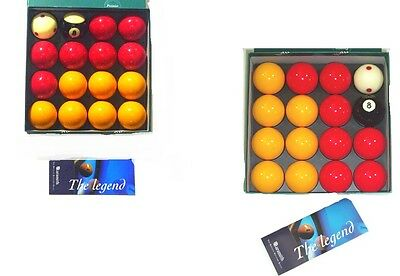 """ARAMITH 2"""" (50.8mm) PREMIER PRO CUP ADDITION REDS + YELLOWS POOL BALLS"""