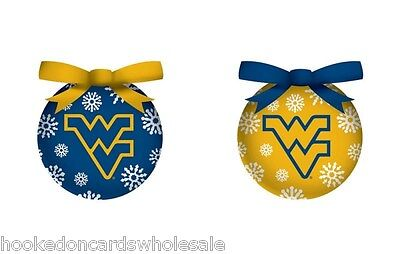 West Virginia Mountaineers Light-up LED Ball Christmas Tree Ornament - set of 6