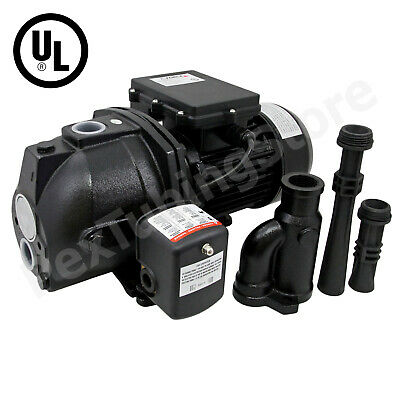 3/4 HP Convertible Shallow or Deep Well Jet Pump w/ Pressure Switch, 115/230V UL