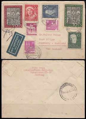 West Germany 1951 Cover To New Zealand (Id:qw023)