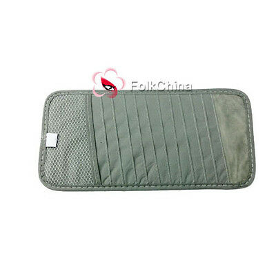 12 Disc CD DVD Holder Sleeve Wallet For Car Sun Visor Keep Tidy-Gray CDV-12-B