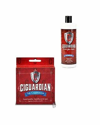 Ciguardian Large Chaperone Humidifier by Cigar Tech + Free 8oz Solution