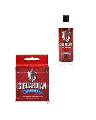 Ciguardian Small Chaperone Humidifier by Cigar Tech + Free 8oz Solution