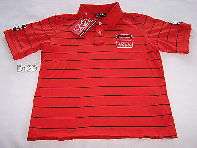 Holden Racing Team HRT Boys Red Black Grid Polo Shirt Size 6 New