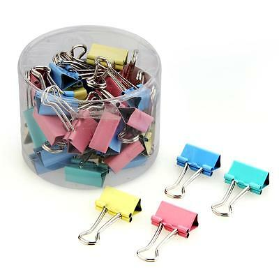 40pcs 19mm Colorful Metal Binder Clips File Paper Clip Office Supplies