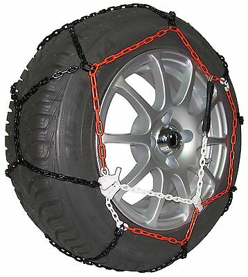 """9mm Car Tyre Snow Chains for 18"""" Wheels TUV Approved Green Valley TXR9"""