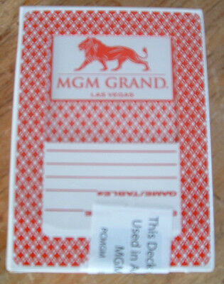 Mgm Grand Casino Las Vegas Playing Cards Used And Resealed