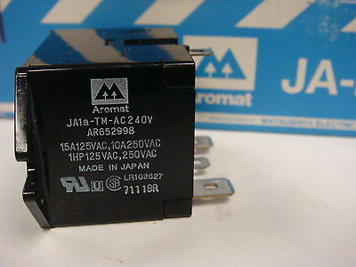 (1) High Capacity Power Relay 240Vdc 15A Spst Non-Latch Aromat Ja1A-Tm-Ac240V