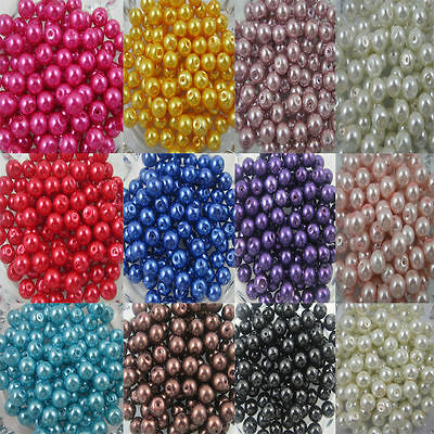 Round Glass Pearl Spacer Bead  For Craft making 4mm/6mm/8mm/10mm