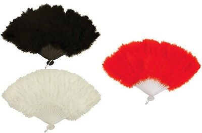 Hand Held Soft Feather Fan Burlesque 20s Flapper Wedding Ladies Fancy Dress