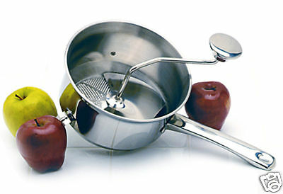 Norpro 593 Food Mill 18/10 Stainless Steel 2Qt Ricer, Strainer, Masher