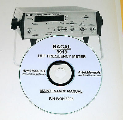 Racal 9919 UHF Frequency Meter, Maintenance Manual, with Schematics