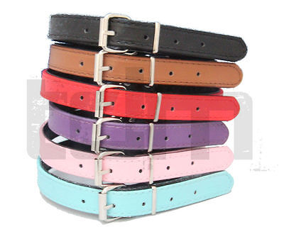 Soft Padded Leather Dog Collar For Small Medium Large Puppies & Adult Dogs New