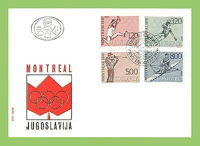 Yugoslavia 1976 Olympic Games, Montreal First Day Cover