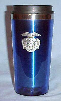 New Police insulated travel cup with pewter emblem