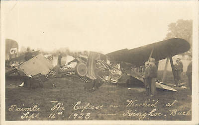 Ivinghoe. Daimler Air Express Wrecked Sept 14th 1923. Card by Zelma, Aylesbury.