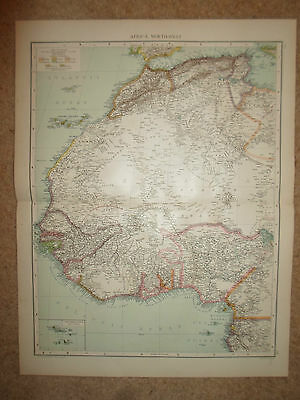 Old Map AFRICA, NORTH-WEST ~ From Universal Atlas 1893