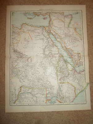Old Map AFRICA, NORTH-EAST ~ From Universal Atlas 1893