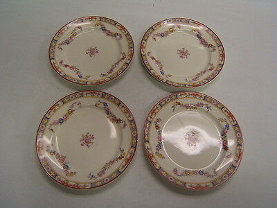 "WS George China ""Derwood"" set 4 bread & butter plates VGC"
