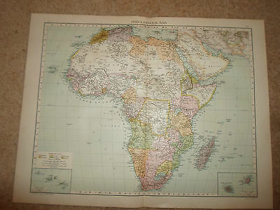 Old Map AFRICA (GENERAL MAP) ~ Taken From The Universal Atlas 1893