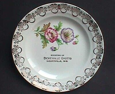 Beautiful small DICKEYVILLE GROTTO antique WISCONSIN souvenir plate