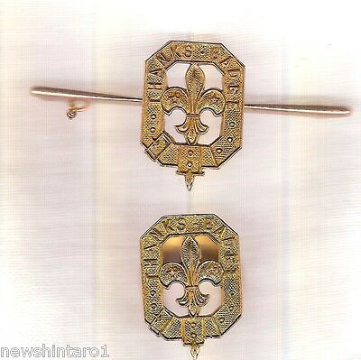 #S1.  1950s 9 CARAT GOLD SCOUT THANKS BADGE & BROOCH