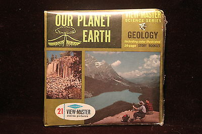 Our Planet Earth Viewmaster 1960's Factory Sealed Meteor Crater,Mt. Rainier