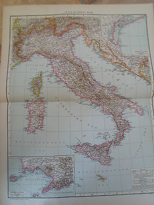 Old Map ITALY (GENERAL MAP) ~ Taken From The Universal Atlas 1893